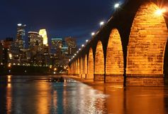 Skyline de Minneapolis Fotografia de Stock