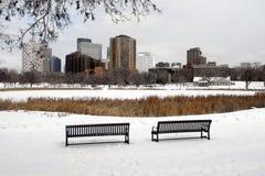 Skyline de Minneapolis fotos de stock