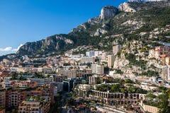 Skyline de Monte - de Carlo, Riviera francês foto de stock