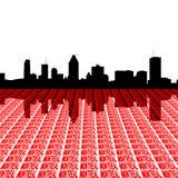 Skyline de Montreal com texto Fotografia de Stock