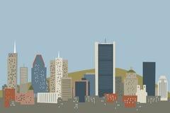 Skyline de Montreal dos desenhos animados ilustração stock