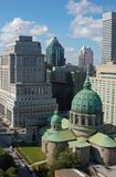 Skyline de Montreal em Dia Fotos de Stock Royalty Free
