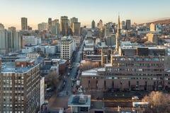 Skyline de Montreal no nascer do sol Imagem de Stock Royalty Free