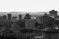 Skyline de Montreal, parte traseira & vista branca Imagens de Stock Royalty Free