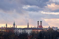 Skyline de Munich Foto de Stock Royalty Free
