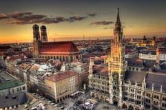 Skyline de Munich imagens de stock