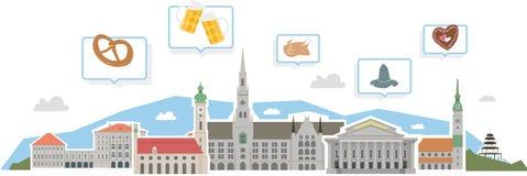 Skyline de Munich, parte dois ilustração stock