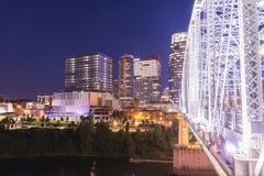 Skyline de Nashville Imagens de Stock