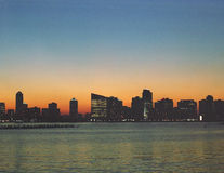Skyline de New-jersey Foto de Stock