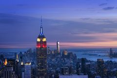Skyline de New York City Fotografia de Stock
