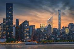 Skyline de New York City Imagens de Stock Royalty Free