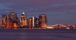 A skyline de New York City Imagens de Stock
