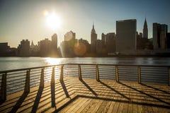 Skyline de New York City Foto de Stock Royalty Free