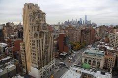 Skyline de New York City da 18a rua imagens de stock royalty free