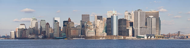 Skyline de New York City/Lower Manhattan Foto de Stock