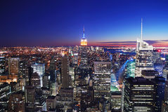 Skyline de New York City Manhattan Foto de Stock Royalty Free