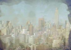 Skyline de New York City Manhattan foto de stock