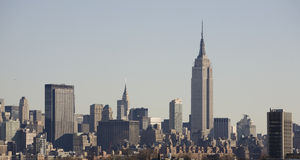 Skyline de New York com Empire State Building foto de stock royalty free