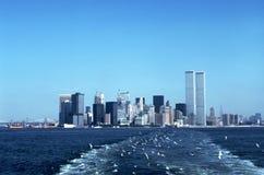 Skyline de New York em 1976 imagens de stock