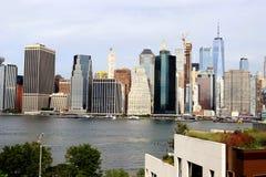 Skyline de New York, Manhattan foto de stock