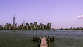 Skyline de New York Manhattan Fotografia de Stock
