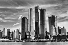Skyline de New York preto e branco foto de stock