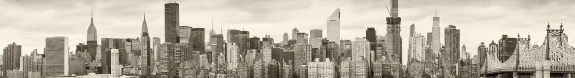 Skyline de New York preto e branco Foto de Stock