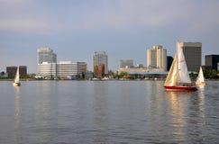 Skyline de Norfolk, Virgínia Imagem de Stock Royalty Free