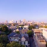 Skyline de Nova Orleães, Louisiana no nascer do sol foto de stock royalty free