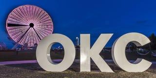Skyline de Oklahoma City, Oklahoma City, Oklahoma no crepúsculo imagem de stock royalty free