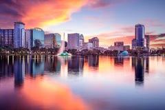 Skyline de Orlando, Florida Fotografia de Stock Royalty Free