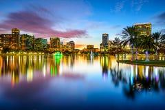 Skyline de Orlando, Florida Foto de Stock Royalty Free