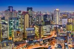 Skyline de Osaka Fotografia de Stock Royalty Free