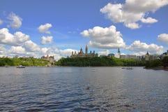 Skyline de Ottawa, Ontário, Canadá Fotos de Stock