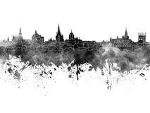 Skyline de Oxford na aquarela preta Foto de Stock Royalty Free
