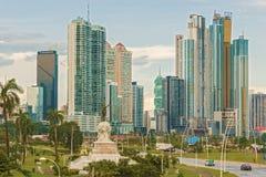 Skyline de Panama City Foto de Stock Royalty Free