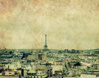 Skyline de Paris Foto de Stock Royalty Free
