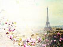 Skyline de Paris com torre Eiffel Fotos de Stock Royalty Free