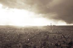 Skyline de Paris com torre Eiffel fotografia de stock