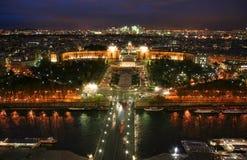 Skyline de Paris da torre Eiffel Imagens de Stock Royalty Free