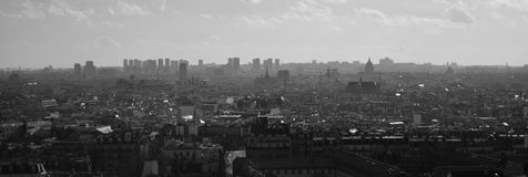 Skyline de Paris de Notre Dame de Paris Foto de Stock