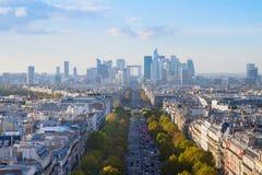 Skyline de Paris, France foto de stock