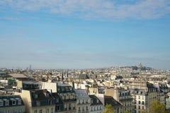 Skyline de Paris na tarde fotos de stock royalty free