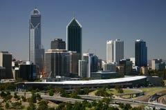 Skyline de Perth Fotos de Stock Royalty Free