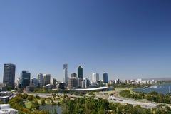 Skyline de Perth Imagens de Stock Royalty Free