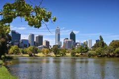 Skyline de Perth Foto de Stock