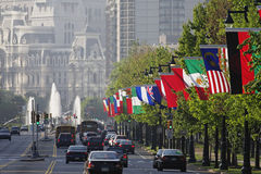 A skyline de Philadelphfia foto de stock royalty free