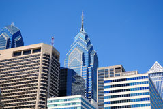 Skyline de Philadelphfia Foto de Stock Royalty Free