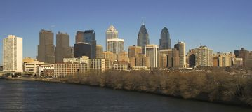 Skyline de Philadelphfia Fotografia de Stock