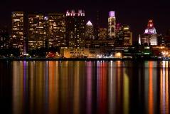 Skyline de Philadelphfia (outubro) Imagens de Stock Royalty Free